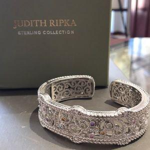 Judith Ripka Sterling Silver Bangle Bracelet